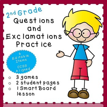 Questions and Exclamations Practice (second grade)
