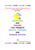 Questions and Phrases that Promote Critical Thinking and P