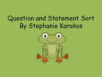 Questions and Statements Sort