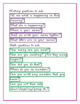 Questions and praise cards for Early Years classroom