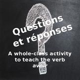 Questions et réponses: A whole-class activity to teach the