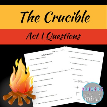 Arthur Miller's The Crucible Act I Questions