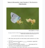 Questions for Documentary Nature's Microworlds: Insect Specials 2: The Secrets