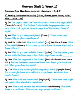 Questions for Guided Reading Stories Unit 2