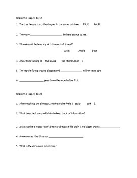 Questions for Magic Tree House book #1