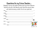 Questions for My Future Teacher- Interview