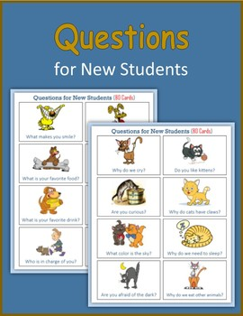 Questions for New Students (80 cards)