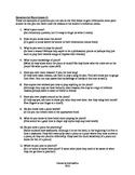 Questions for Piano Lesson #1