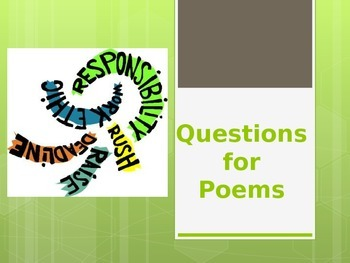 Questions for Poems PowerPoint