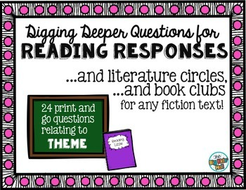 Questions for Reading Responses, Literature Circles, and Book Clubs: Theme