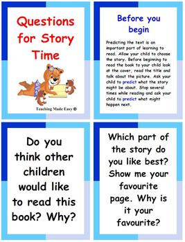Questions for Story Time