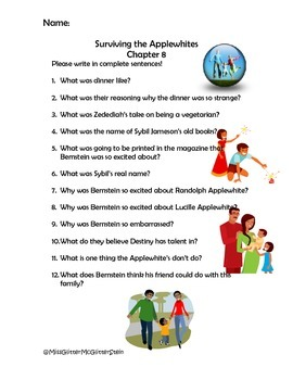 Questions for Surviving the Applewhite's Chapter 8