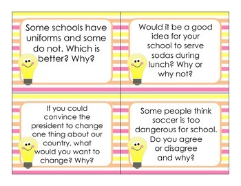 Questions for Thinking and Talking and Listening and Writing