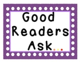 Questions good readers ask posters anchor charts