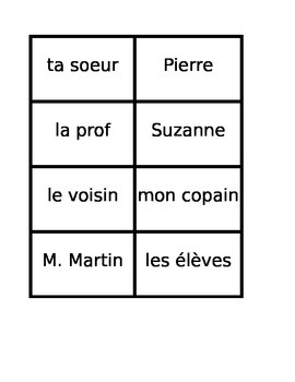 Questions in French game