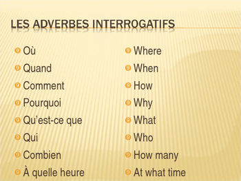 Questions d'information powerpoint