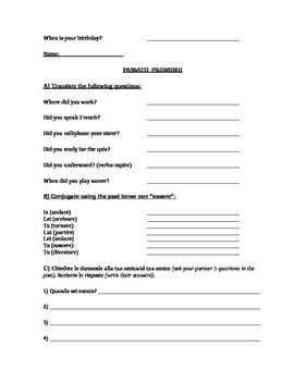Questions in Italian