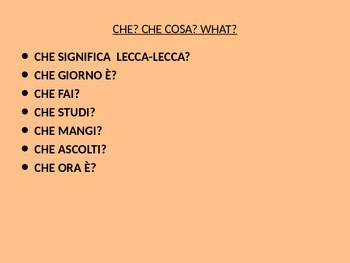 Questions in Italian-How to formulate questions