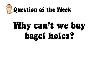 """Questions of the Week : A great """"What do I do now?"""" activity"""