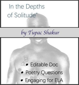 "Questions over Tupac Shakur's poem ""In the Depths of Solitude"""