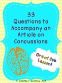 Psychology or Health - 33 Questions to Accompany an Article on Concussions