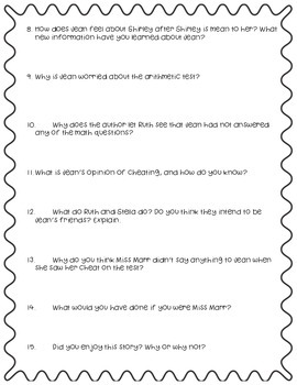 """Questions to Accompany Fifth Grade Trophies """"Little by Little"""""""