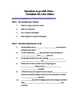 "Questions to Accompany NOVA - ""Evolution"" Video (video free online)"
