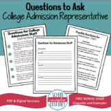 Questions to Ask College Admissions Staff