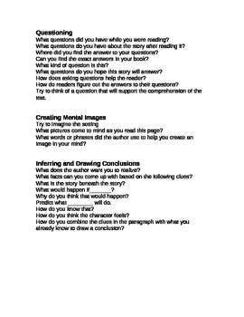 Questions to Ask During Guided Reading