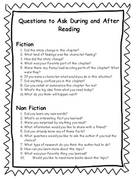 Questions to Ask During Reading