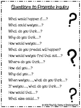 Questions to Promote Inquiry