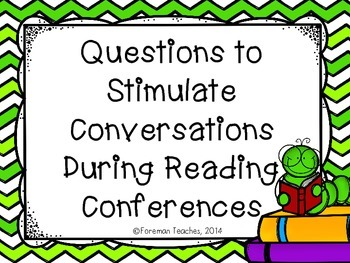 Questions to Stimulate Conversations During Reading Conferences