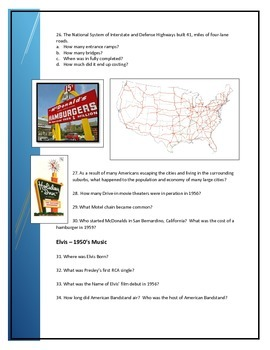 Questions to accompany FREE iBook about 1950's