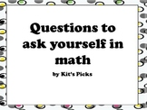 Questions to ask yourself in math signs