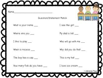 Questions vs. Statements