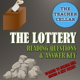 """Questions & Answer Key for """"The Lottery"""" by S. Jackson - NOW WITH BELL RINGERS"""