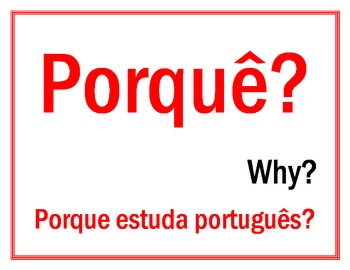 Question words in Portuguese Posters 2