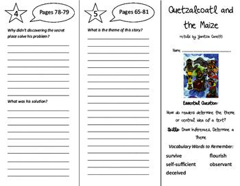 Quetzalcoatl and the Maize Trifold - ReadyGen 6th Grade Unit 1 Module B