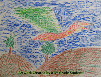 Quetzalcoatlus with Texture Art Lesson