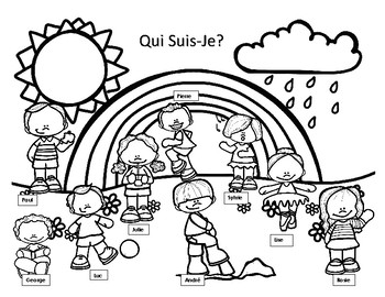 Qui Suis-Je? French speaking and Reading Activity - le Printemps