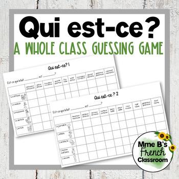 D'accord 1 Unité 3 (3B): Qui est-ce? A guessing game to practice adjectives
