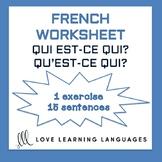 Qui est-ce qui - Qu'est-ce qui ? - French grammar worksheet