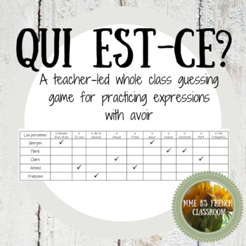 Qui est-ce? using expressions with the verb avoir (D'accord 1 2B)