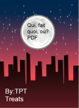 Qui, fait quoi, ou? PDF