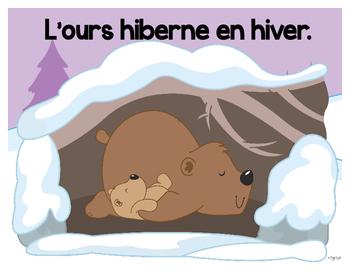 Qui hiberne en hiver? French Emergent Reader and Big Book