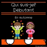 Qui suis-je? Debutant - En automne // French reading game