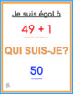 Qui suis-je? French numbers and math game 0 - 50