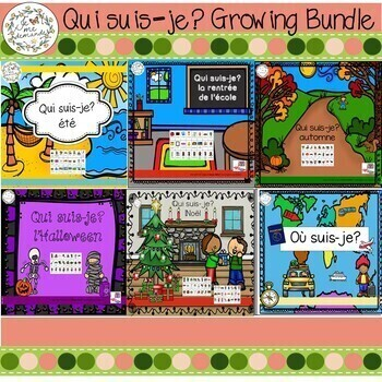 Qui suis-je? GROWING BUNDLE (FRENCH Guess Who Oral Language Game)