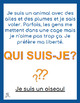 Qui suis-je? Interactive activity for advanced secondary French students