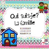 Qui suis-je? La famille (FRENCH Guess Who Family Oral Language Game)
